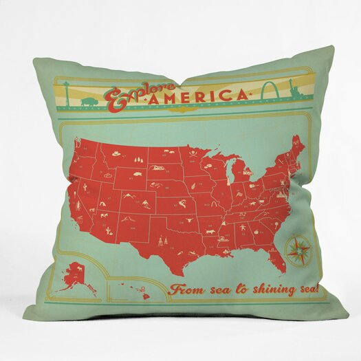 DENY Designs Anderson Design Group Explore America Throw Pillow