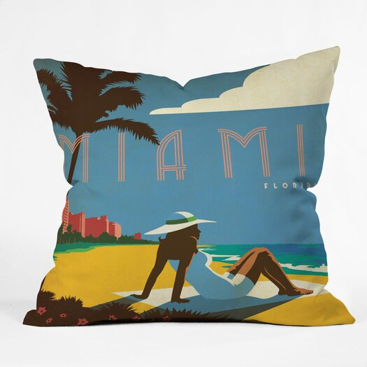 DENY Designs Anderson Design Group Miami Indoor/Outdoor Throw Pillow