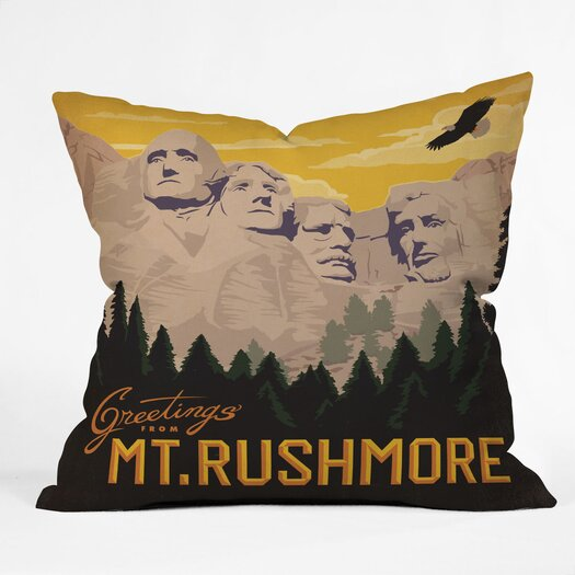 DENY Designs Anderson Design Group Mt Rushmore Indoor/Outdoor Throw Pillow
