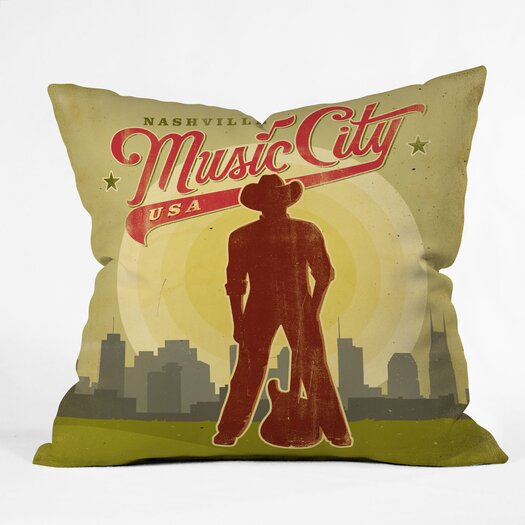 DENY Designs Anderson Design Group Music City Indoor/Outdoor Throw Pillow