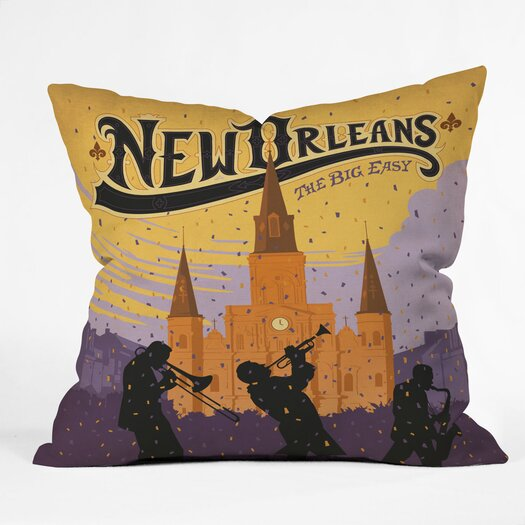 DENY Designs Anderson Design Group New Orleans 1 Indoor/Outdoor Throw Pillow