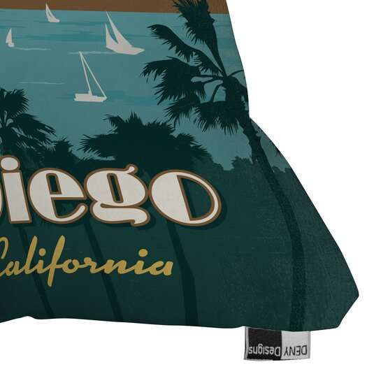DENY Designs Anderson Design Group San Diego Indoor/Outdoor Throw Pillow