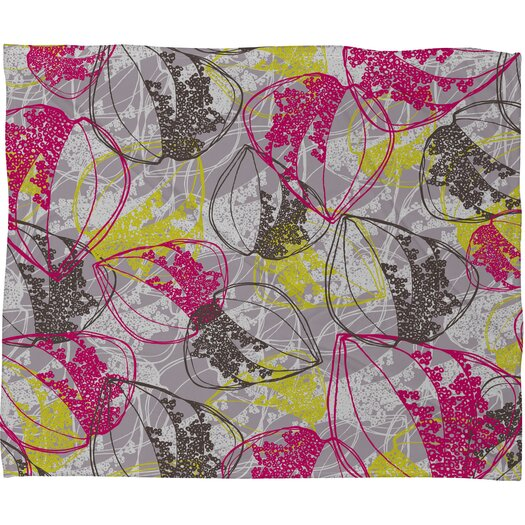 DENY Designs Rachael Taylor Organic Retro Leaves Throw Blanket