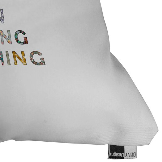 DENY Designs Bianca Green Her Daily Motivation Indoor/Outdoor Throw Pillow