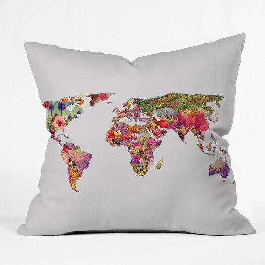 DENY Designs Bianca Green Its Your World Indoor/Outdoor Throw Pillow