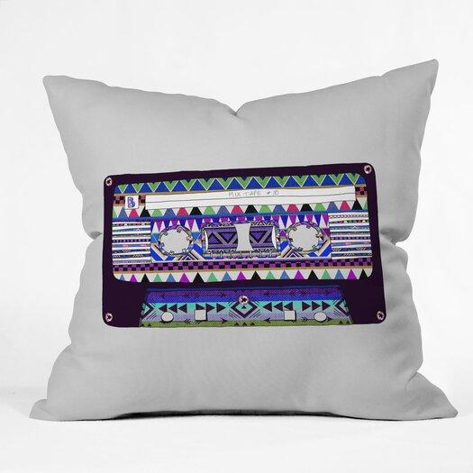DENY Designs Bianca Green Mix Tape No 10 Indoor/Outdoor Throw Pillow