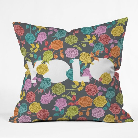 DENY Designs Bianca Green Yolo Indoor/Outdoor Throw Pillow
