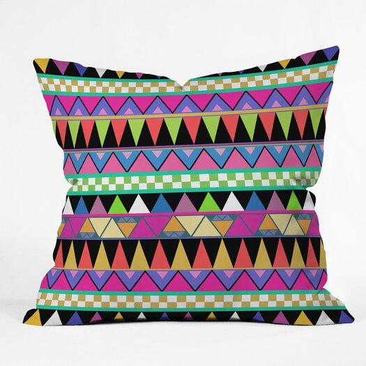 DENY Designs Bianca Green Zigzag Indoor/Outdoor Throw Pillow