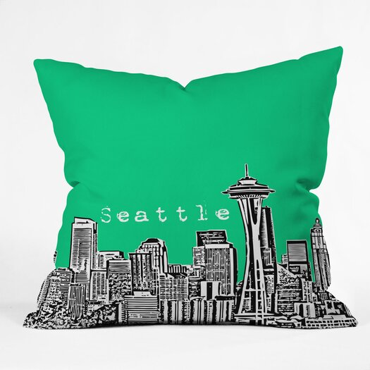 DENY Designs Bird Ave Seattle Indoor/Outdoor Throw Pillow