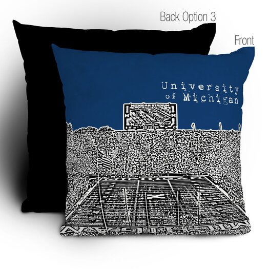 DENY Designs Bird Ave University of Michigan Throw Pillow