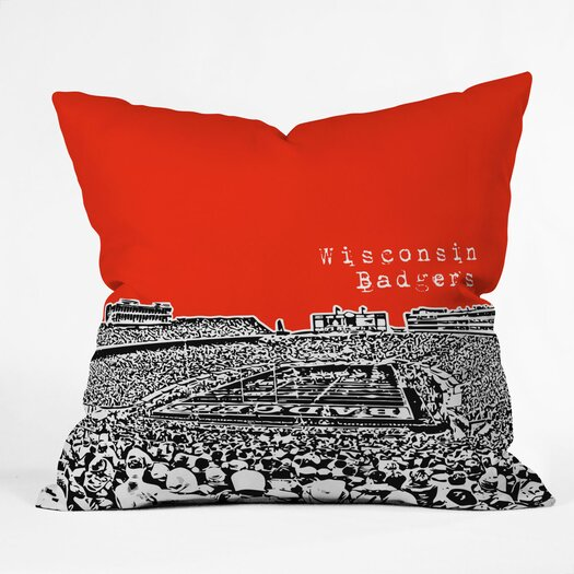 DENY Designs Bird Ave Wisconsin Badgers Throw Pillow
