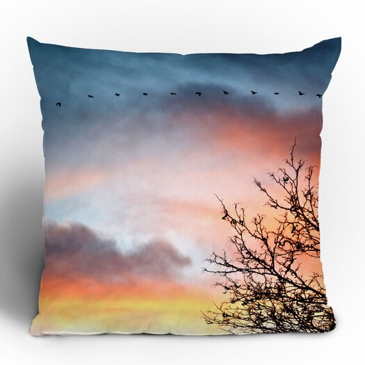 DENY Designs Bird Wanna Whistle Bird Line Throw Pillow