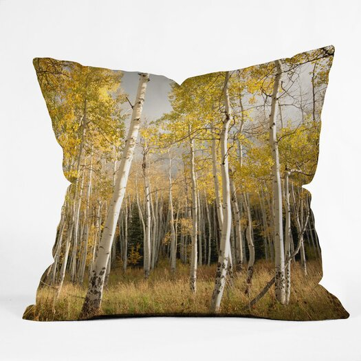 DENY Designs Bird Wanna Whistle Aspen Indoor/Outdoor Throw Pillow