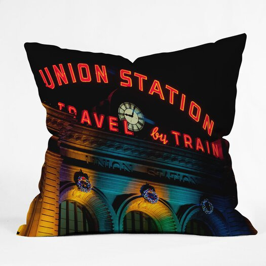 DENY Designs Bird Wanna Whistle Union Station Indoor/Outdoor Throw Pillow