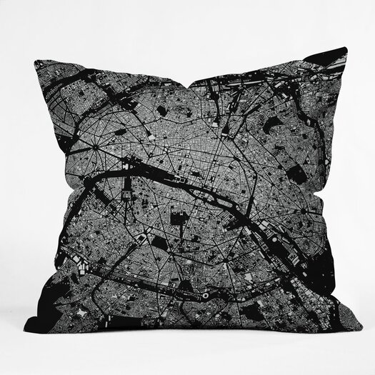 DENY Designs CityFabric Inc Paris Indoor/Outdoor Throw Pillow