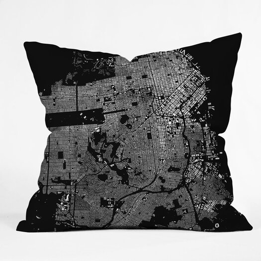 DENY Designs CityFabric Inc San Francisco Indoor/Outdoor Throw Pillow
