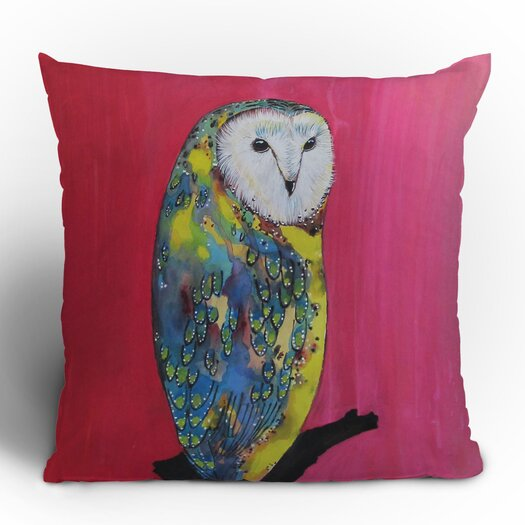 DENY Designs Clara Nilles Owl on Lipstick Throw Pillow