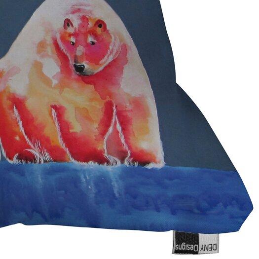 DENY Designs Clara Nilles Polarbear Blush Indoor/Outdoor Throw Pillow