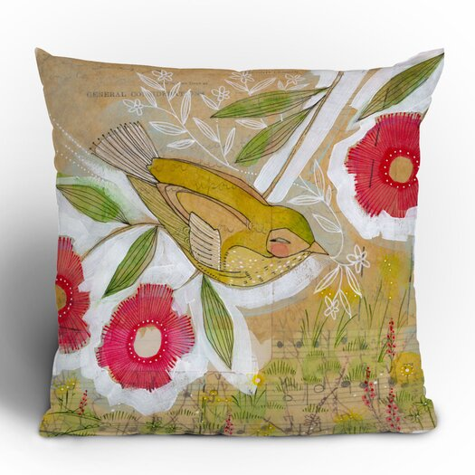 DENY Designs Cori Dantini Sweet Meadow Bird Throw Pillow
