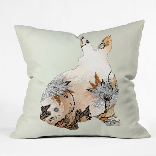 DENY Designs Iveta Abolina Little Rabbit Indoor/Outdoor Throw Pillow