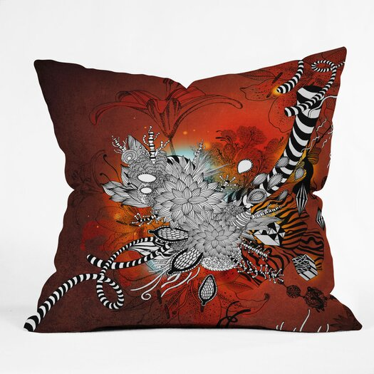 DENY Designs Iveta Abolina Wild Lilly Indoor/Outdoor Throw Pillow