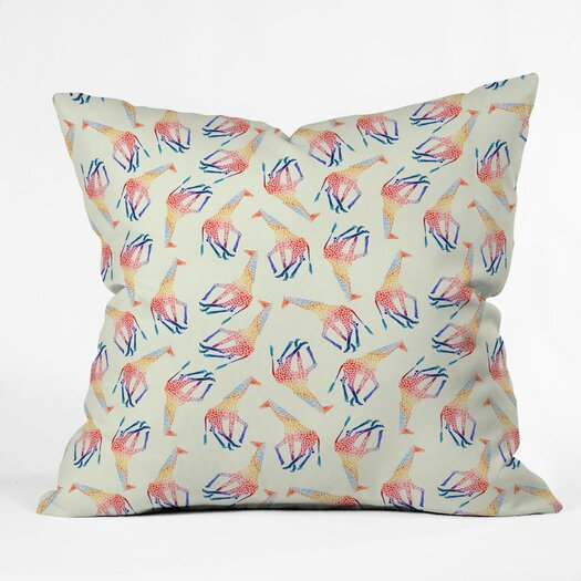 DENY Designs Jacqueline Maldonado Giraffe Indoor/Outdoor Throw Pillow