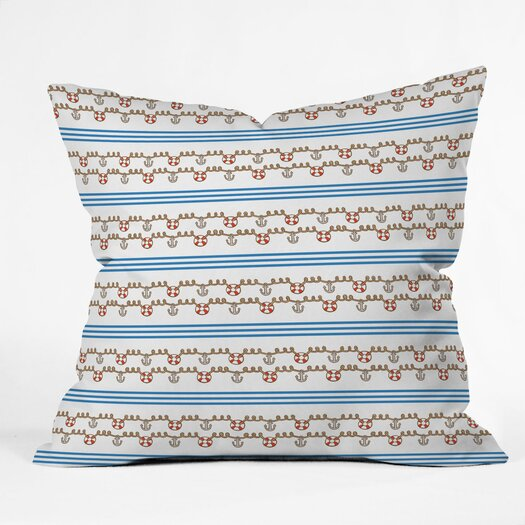 DENY Designs Jennifer Denty Anchor Small Indoor/Outdoor Throw Pillow