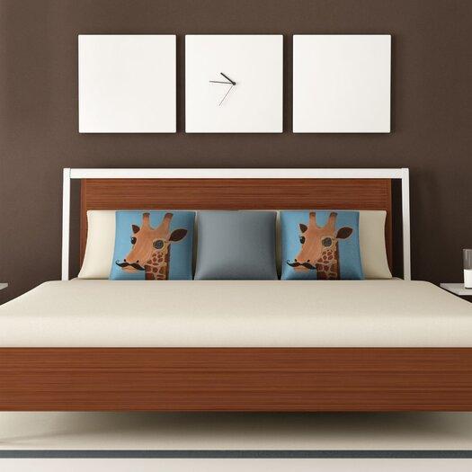 DENY Designs Mandy Hazell Gentleman Giraffe Throw Pillow