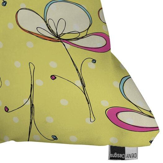 DENY Designs Rachael Taylor Floral Umbrellas Indoor/Outdoor Throw Pillow