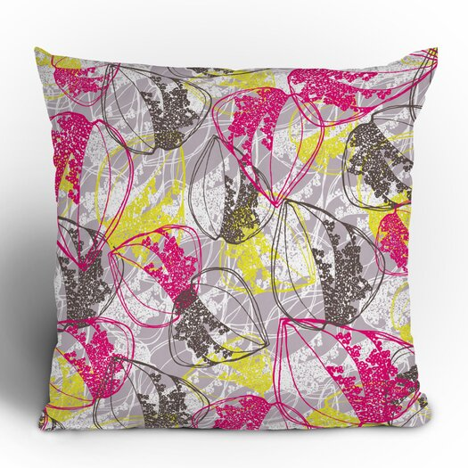 DENY Designs Rachael Taylor Organic Retro Leaves Throw Pillow
