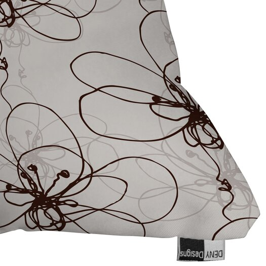 DENY Designs Rachael Taylor Tonal Floral Indoor/Outdoor Throw Pillow