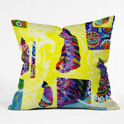 DENY Designs Randi Antonsen Cats 1 Throw Pillow