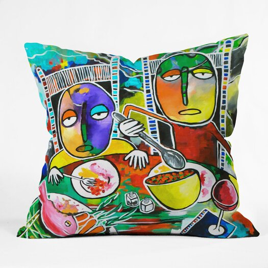DENY Designs Robin Faye Gates I Should Give Relish a Try Indoor/Outdoor Throw Pillow