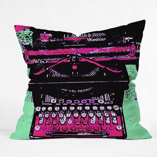 DENY Designs Romi Vega Antique Typewriter Throw Pillow