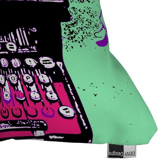 DENY Designs Romi Vega Typewriter Indoor/Outdoor Throw Pillow