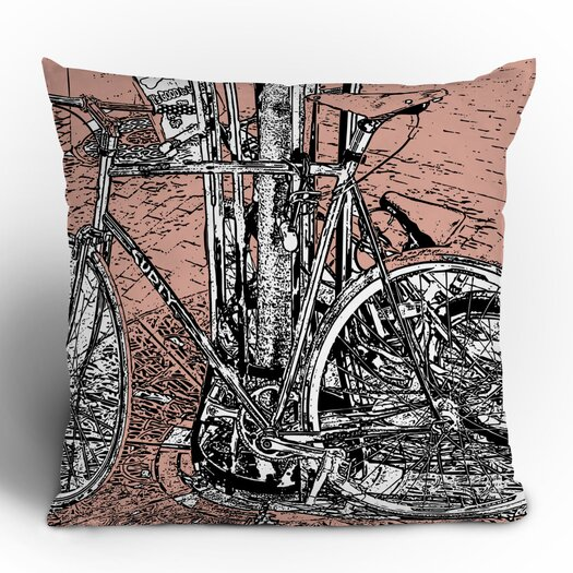 DENY Designs Romi Vega Bike Throw Pillow