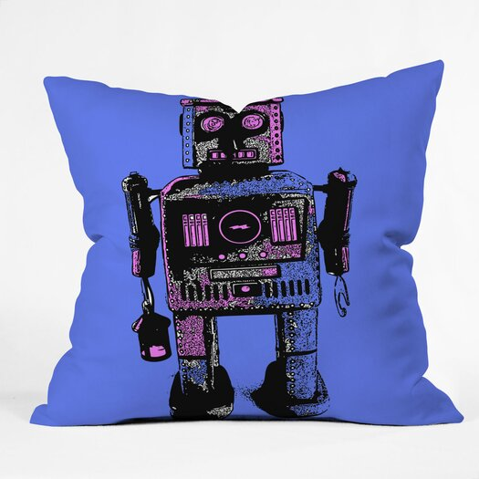 DENY Designs Romi Vega Lantern Robot Throw Pillow