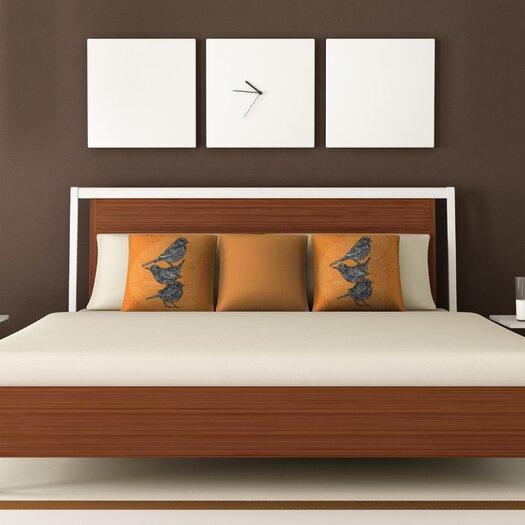 DENY Designs Valentina Ramos 3 Little Birds  Throw Pillow