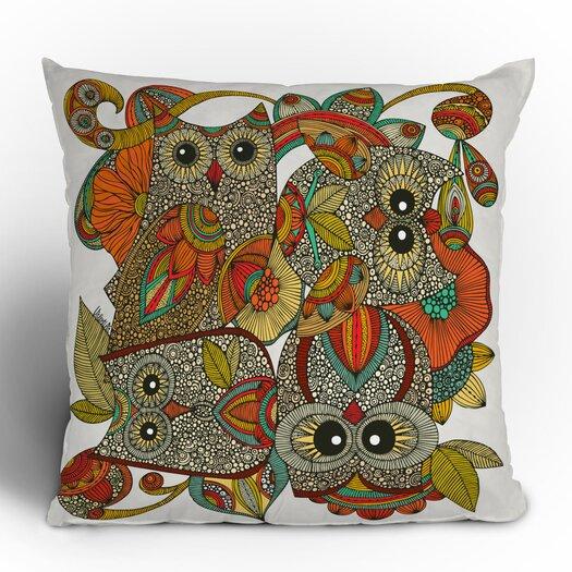 DENY Designs Valentina Ramos 4 Owls Throw Pillow