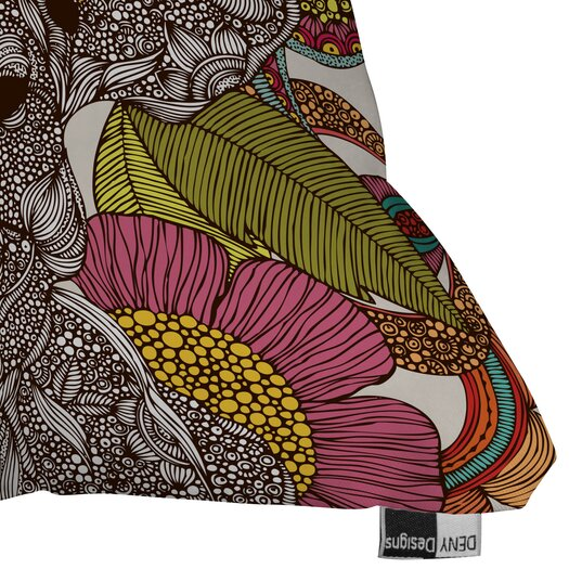 DENY Designs Valentina Ramos Arabella and the Flowers Throw Pillow