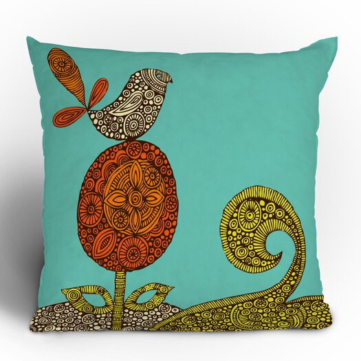DENY Designs Valentina Ramos Bird in the Flower Throw Pillow
