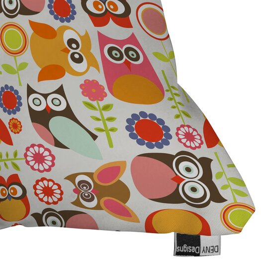DENY Designs Valentina Ramos Cute Little Owls Throw Pillow