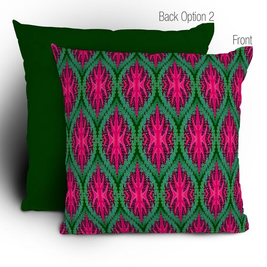 DENY Designs Wagner Campelo Ikat Leaves Throw Pillow