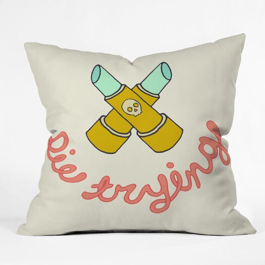 DENY Designs Wesley Bird Die Trying Throw Pillow