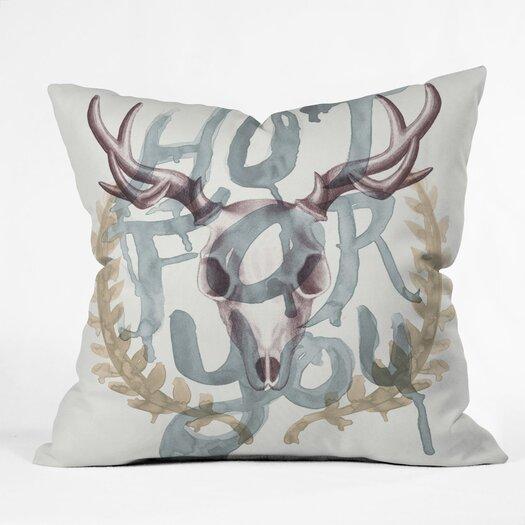 DENY Designs Wesley Bird Hot For You Indoor/Outdoor Throw Pillow