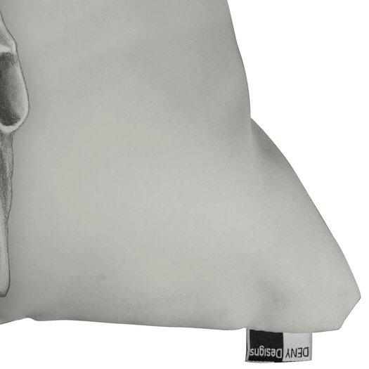DENY Designs Wesley Bird Skull Indoor/Outdoor Throw Pillow