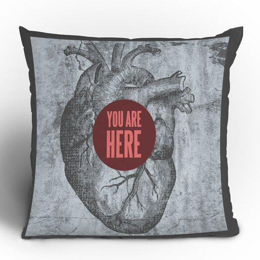 DENY Designs Wesley Bird You Are Here Throw Pillow
