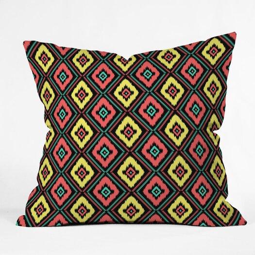 DENY Designs Jacqueline Maldonado Zig Zag Ikat Indoor/Outdoor Throw Pillow