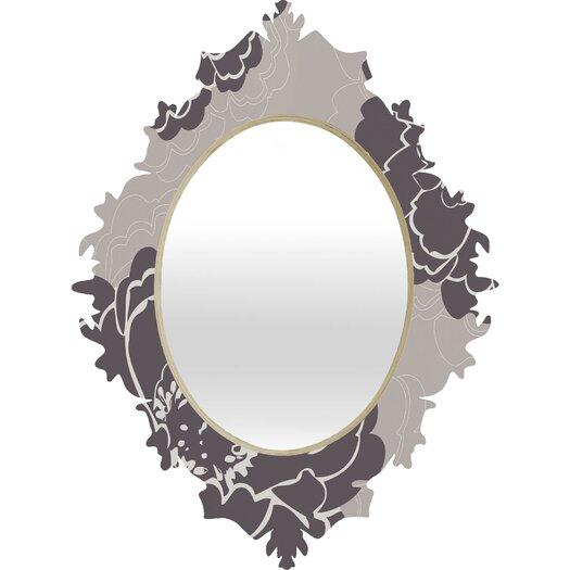 DENY Designs Caroline Okun Winter Peony Baroque Mirror