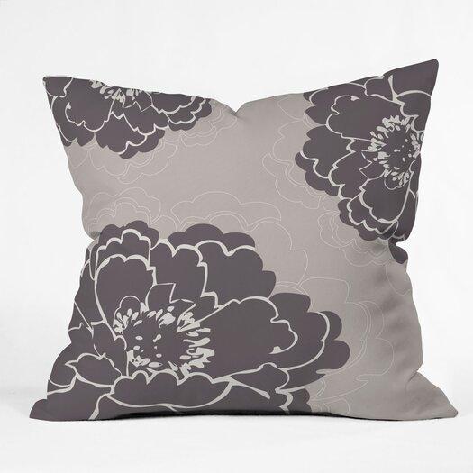 DENY Designs Caroline Okun Winter Peony Throw Pillow